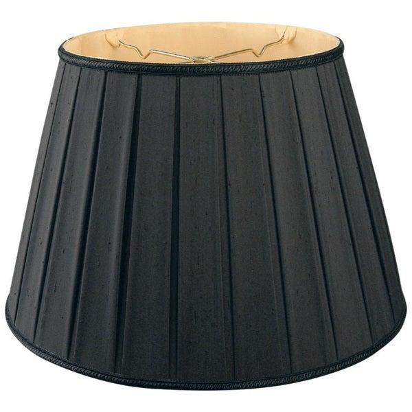 Royal Designs Round Pleated Designer Lamp Shade, Black 10.5 x 16 x 11 25385593
