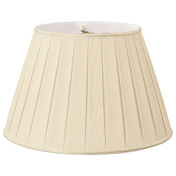 Royal Designs Round Pleated Designer Lamp Shade, Beige, 10.5 x 16 x 11 25385594