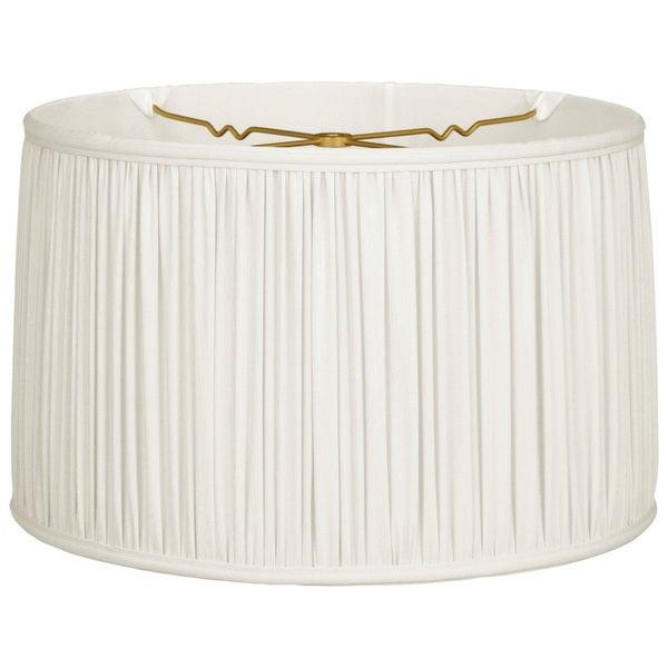 Royal Designs Shallow Drum Gather Pleat Basic Lamp Shade, White, 17 x 18 x 11.5 25386346