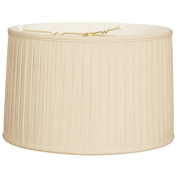 Royal Designs Shallow Drum Side Pleat Basic Lamp Shade, Beige, 17 x 18 x 11.5 25386362