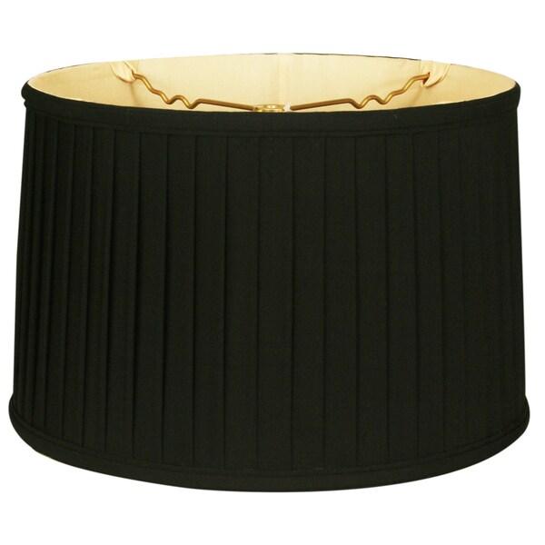 Royal Designs Shallow Drum Side Pleat Basic Lamp Shade, Black, 13 x 14 x 9 25386401