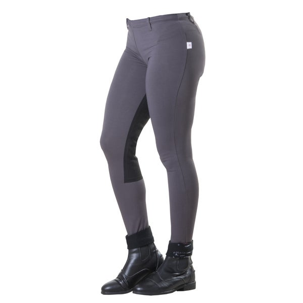 Devon-Aire Versailles Charcoal Full Seat Riding Tights 25386656
