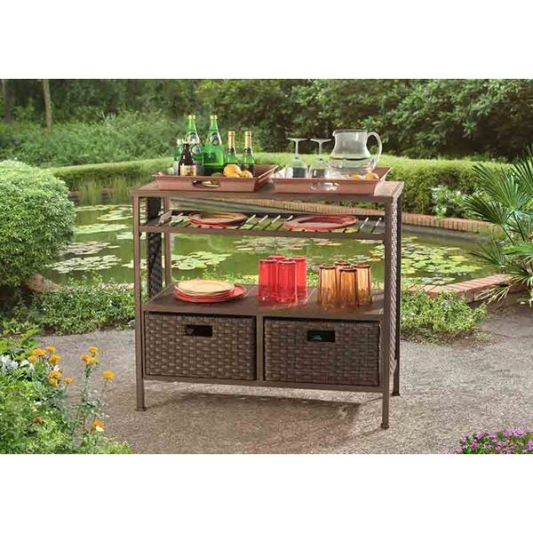 Antigua Beverage Cart and Serving Console