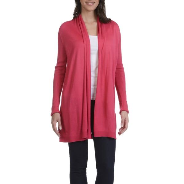 Verve Ami Women's Shawl Collar Flyaway Cardigan 25387515