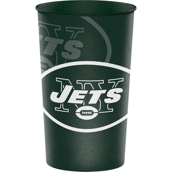 New York Jets 22 oz Plastic Souvenir Cups, Case of 20 25388562