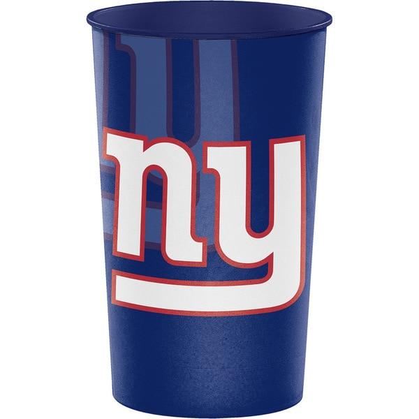 New York Giants 22 oz Plastic Souvenir Cups, Case of 20 25388564