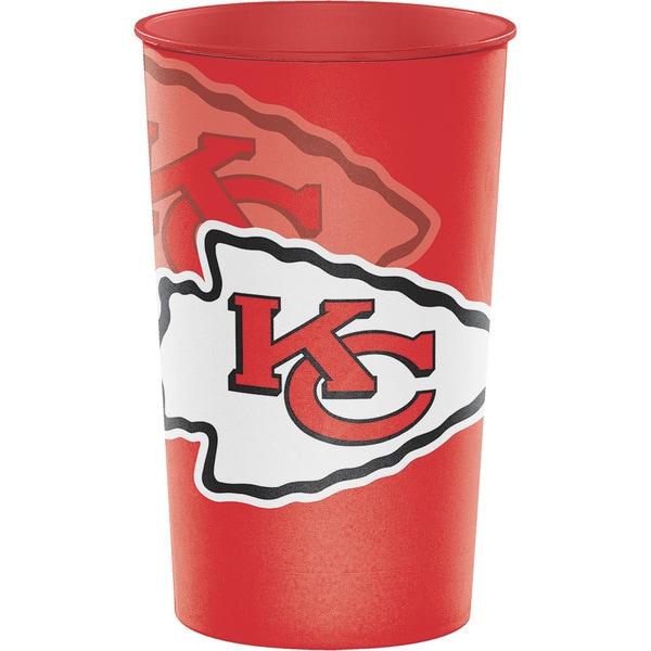 Kansas City Chiefs 22 oz Plastic Souvenir Cups, Case of 20 25388573