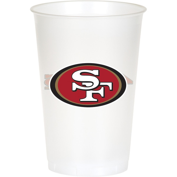San Francisco 49ers 20 oz Plastic Cups, Case of 96 25388608