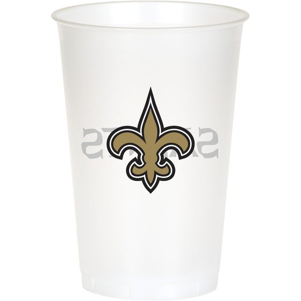 New Orleans Saints 20 oz Plastic Cups, Case of 96 25388618