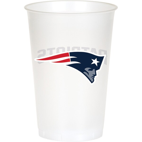 New England Patriots 20 oz Plastic Cups, Case of 96 25388620