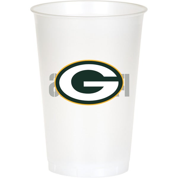 Green Bay Packers 20 oz Plastic Cups, Case of 96 25388631