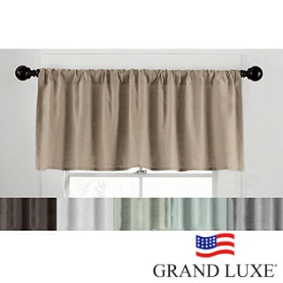 Grand Luxe Linen Gotham Tailored Valance