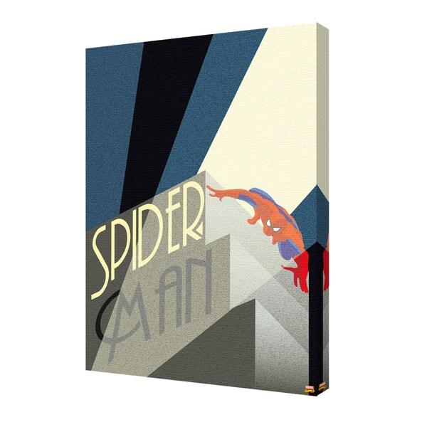Spider-Man - Art Deco Light' 24-inch x 36-inch Canvas by Pyramid America 25398606