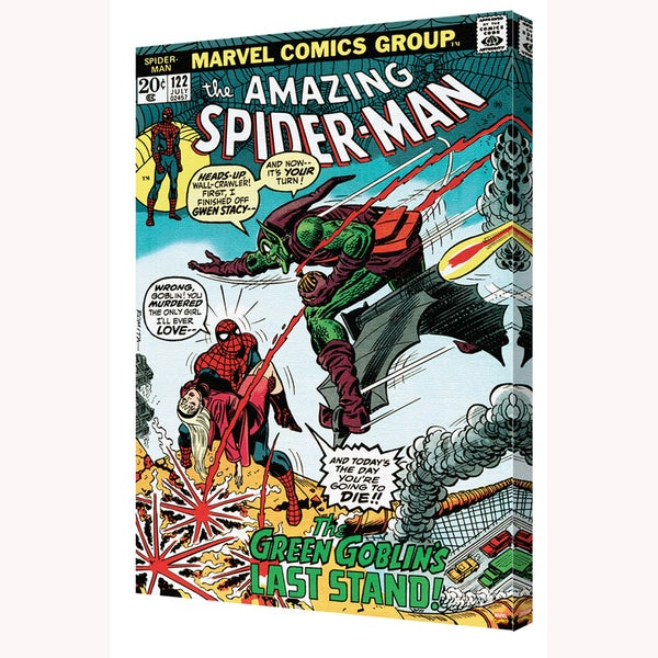 Spider-Man 'Spider-Man #122' 24-inch x 36-inch Canvas Art by Pyramid America 25398931