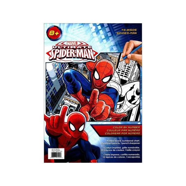 Dimensions Color By Number 9x12 Spiderman 25404232