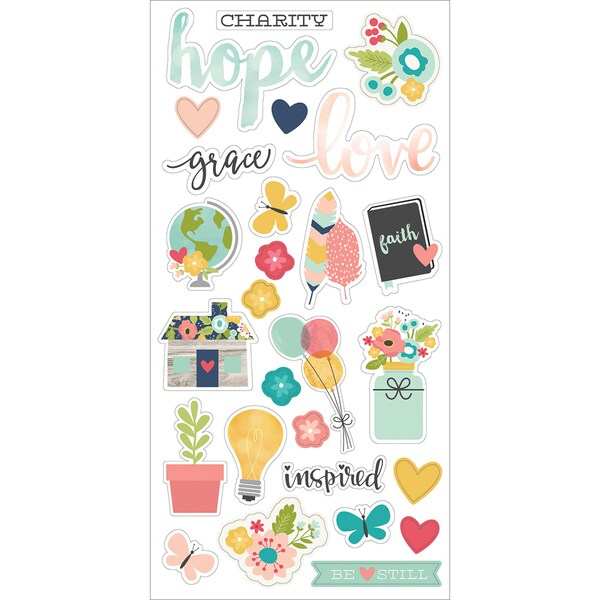 "Faith Chipboard Stickers 6""X12""- 25404600"