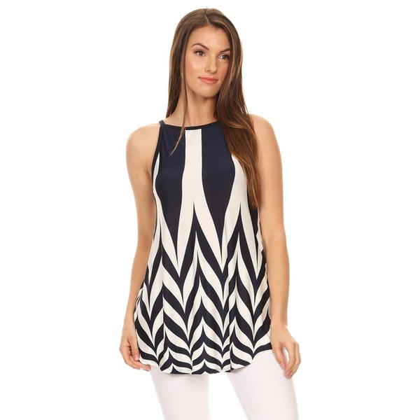 Women's Sleeveless Chevron Tunic 25409293