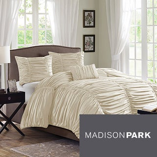 Madison Park Newport Cotton 4-piece Duvet Cover Set
