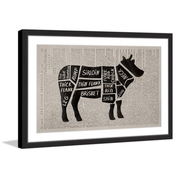 Beef Cuts II' Framed Painting Print 25426849