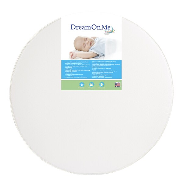 Dream On Me 5-inch Thick Round Crib Mattress 25430500