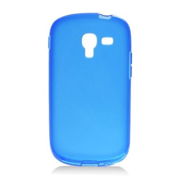 Insten Blue Frosted TPU Rubber Candy Skin Case Cover For Samsung Galaxy Exhibit T599 25438285