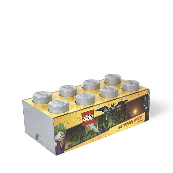 LEGO Batman Storage Brick 8 Medium Stone Grey 25448827