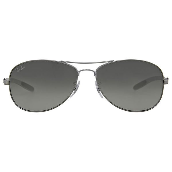 Ray-Ban Tech Pilot 0RB8301 Unisex Frame Color Shiny Gunmetal  Crystal Grey Gradient Lense Sunglasses   (As Is Item) 29376046
