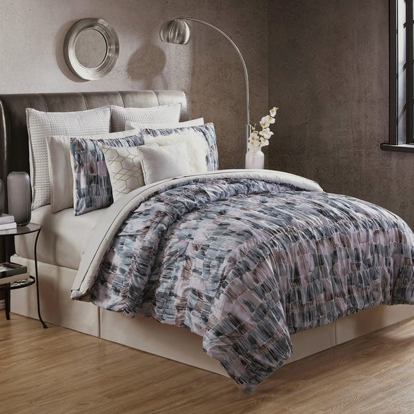 Asha 4 Piece King Size Comforter Set by Nikki Chu (As Is Item) 31142770