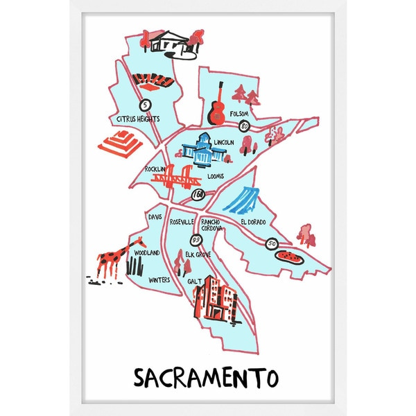'Sacramento Highways' Framed Painting Print 25455096