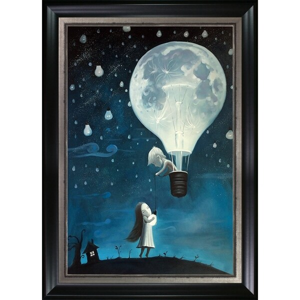 Adrian Borda 'He Gave Me The Brightest Star' Hand Painted Framed Oil Reproduction on Canvas 25489669