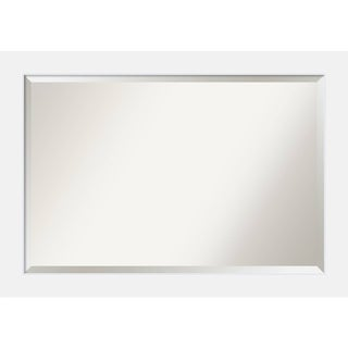Bathroom Mirror Extra Large, Corvino White 41 x 29-inch - 28.88 x 40.88 x 0.866 inches deep