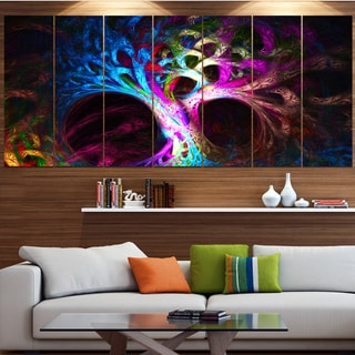 Designart 'Magical Multi-color Psychedelic Tree' Abstract Artwork on Canvas