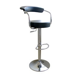 Black Omicron Adjustable Bar Stools (Set of 2)