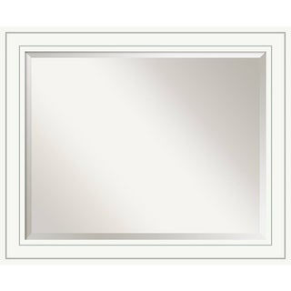 Bathroom Mirror Large, Craftsman White 33 x 27-inch - 26.88 x 32.88 x 0.889 inches deep