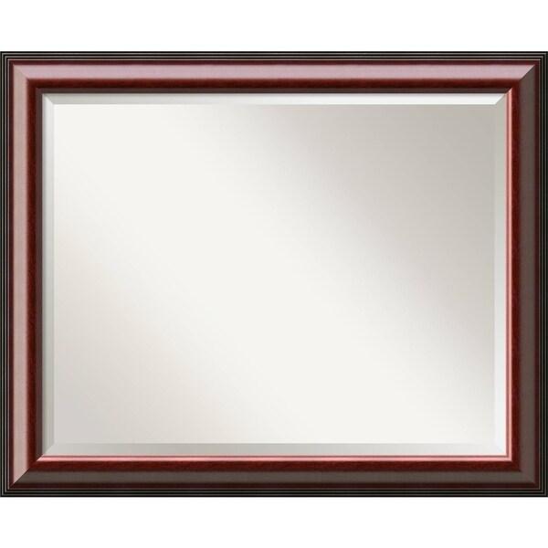 Bathroom Mirror Large, Cambridge Mahogany 33 x 27-inch 25532168
