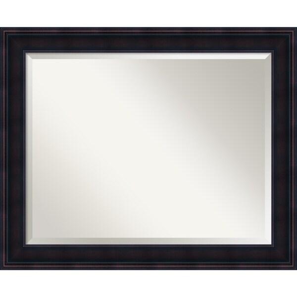 Bathroom Mirror Large, Fits Standard 30 to 36 Cabinet, Annatto Mahogany 33 x 27-inch 25532176