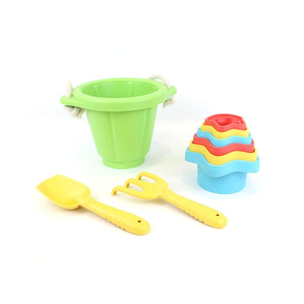 Green Toys Sand & Water Play Set: Bucket w/ Shovel, Rake & Cups 25532189