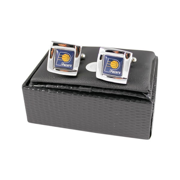 NBA Indiana Pacers Square Cufflinks with Square Shape Logo Design Gift Box Set 25575110