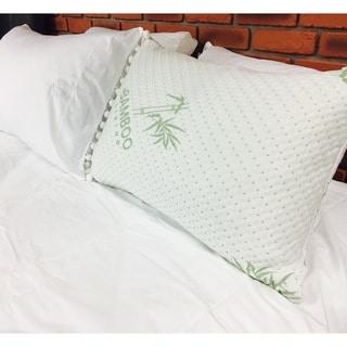 Maison Blanche - Chopped Memory Foam Pillow - White/Green
