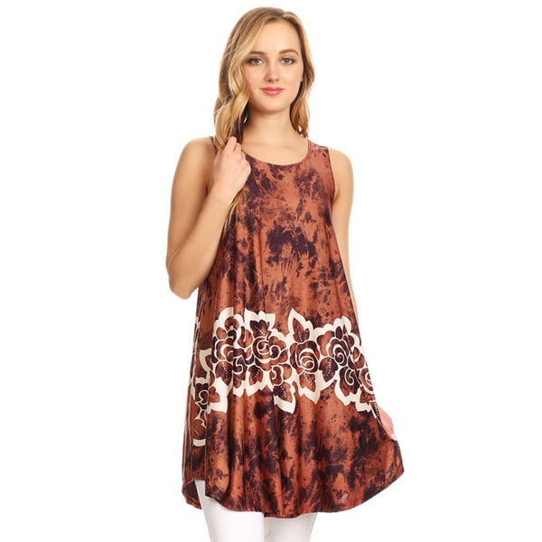 Women's Tie Dye Floral Sleeveless Top 25687114