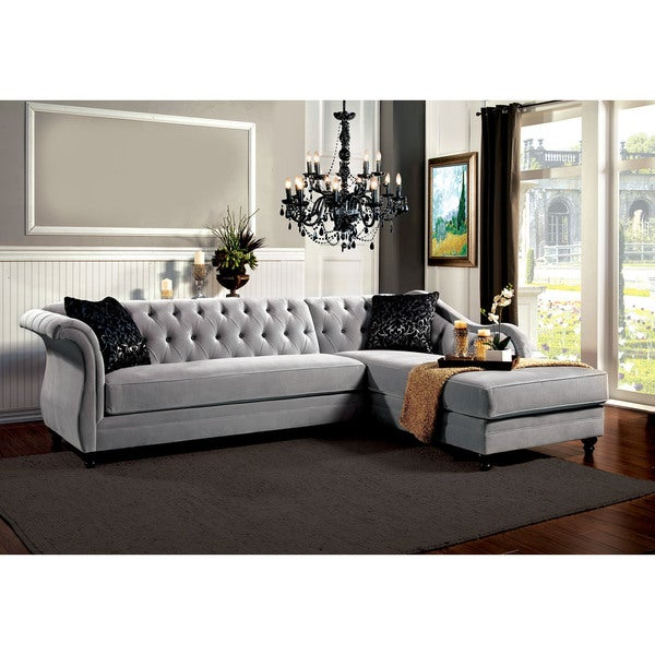 Angela Grey Sectional Sofa