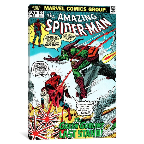 iCanvas 'Marvel Comic Book Spider-Man Issue Cover #122' by Marvel Comics Canvas Print 25691416