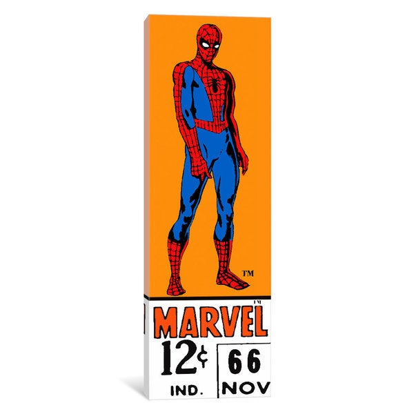 iCanvas 'Comics (Retro) - Book Spider-Man Price Tag Panoramic ' by Marvel Comics Canvas Print 25691442