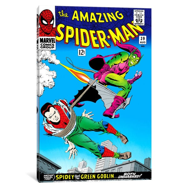 iCanvas 'Marvel Comic Book Spider-Man Issue Cover #39' by Marvel Comics Canvas Print 25691466