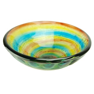 Fontaine Rainbow Swirl Glass Vessel Sink