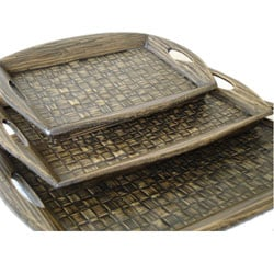 Bamboo Serving Trays - Set of 3 (Indonesia)