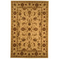 Handmade Traditions Isfahan Ivory Wool and Silk Rug (5' x 8')