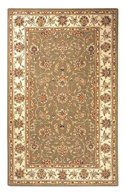 Safavieh Handmade Isfahan Sage/ Ivory Wool and Silk Rug (5' x 8')