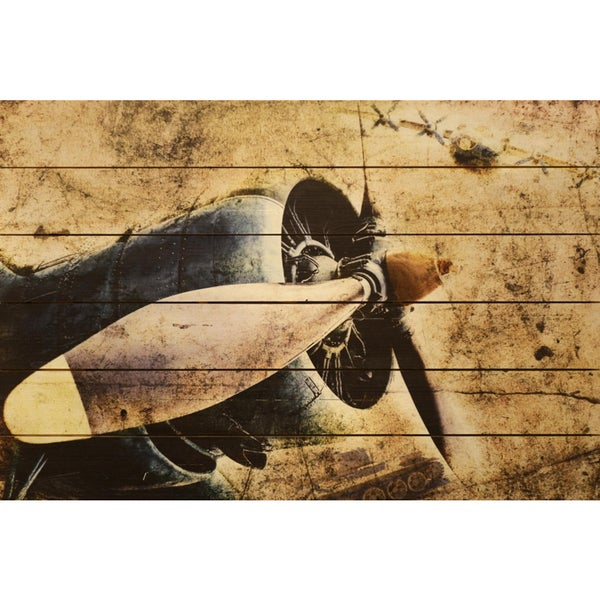 Empire Art - Corsair Fine Art Giclee Printed On Solid Fir Wood Planks 25736570