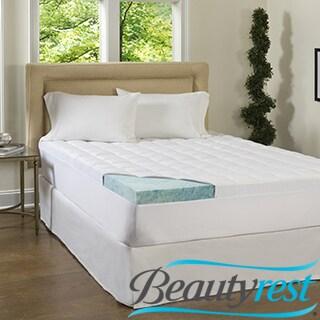 Beautyrest 2-inch Supreme Gel Memory Foam and 1.5-inch Fiber Mattress Topper